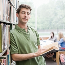 Student_in_library - Click to see full photograph